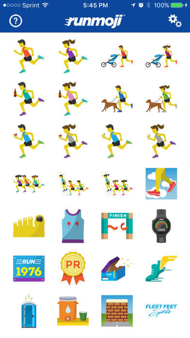 Runner-Focused Emoji Apps - The Runmoji App Helps Avid Runners Express Themselves Better