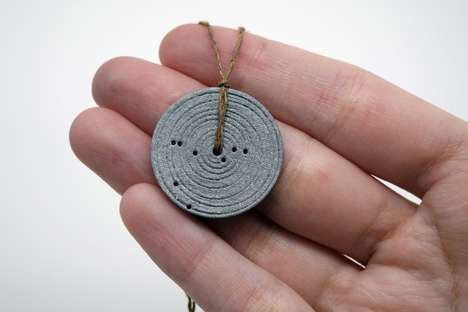 3D-Printed Constellation Jewelry - The SpaceTime Coordinates Memento is Personalized with NASA Data