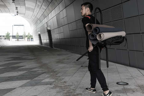 Load-Balancing Equipment Carriers - The 'A-Frame' is a Modern Carrying Frame Inspired by the Jigae