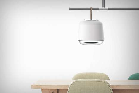 Hanging Illuminator Air Purifiers - The 'Belyse' Air Purifier System Features a Scandinavian Design