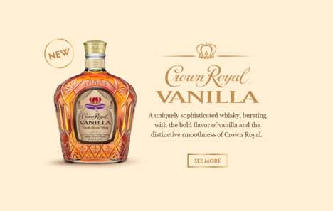 Vanilla-Flavored Whiskies - The New Crown Royal Vanilla is Infused with Madagascar Bourbon Vanilla