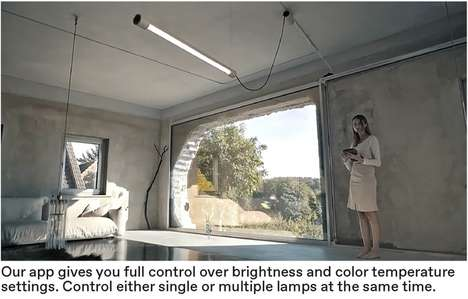 Efficient Modular Light Systems - The Kiën 'LICHT 1' Light Emulates Daylight within Homes or Offices