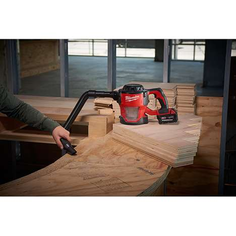 Efficient Wood Shop Vacuums - The Milwaukee M18 Compact Cordless Vacuums are Powerful