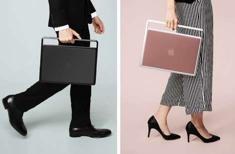 Stylish Aluminum Laptop Handles - The ZENLET 'LIFT' Laptop Carrier is Designed for the MacBook Pro