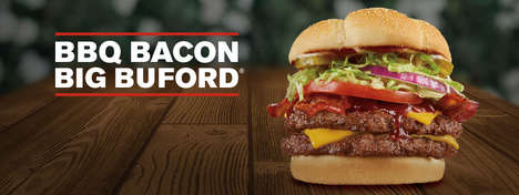 Juicy Barbecue Burgers - The New BBQ Bacon Big Buford is Oozing with Smoky BBQ Sauce