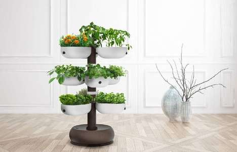 Self-Watering Connected Gardens - The Taiga Tower is a Smart Home Garden Ideal for Any Space