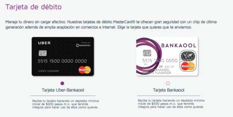 Tech Company Debit Cards - Uber's UberCard Encourages Mexicans to Use the Rideshare Service