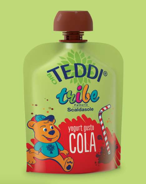Cola-Flavored Yogurts - Fattoria Scaldasole's Teddi Tribe Pouches Come in a Soda-Inspired Flavor