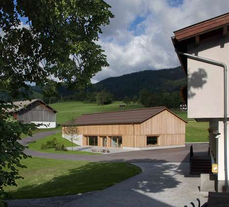 Barn-Inspired Community Centers - Bernardo Bader's Building References Rural Austrian Architecture
