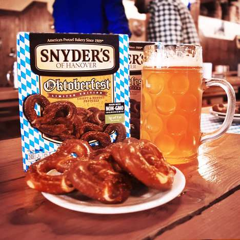 Bavarian-Style Pretzel Snacks - Snyder's of Hanover Celebrated Oktoberfest with Old World Pretzels