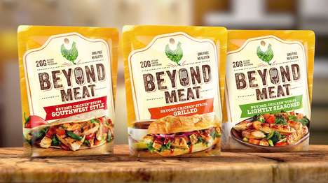 "Plant-Based Meat Packaging - Beyond Meat's Vegan Food Products Present ""the Future of Protein"""