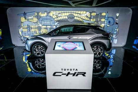 Artful Automotive Pop-Ups - This Interactive Pop-Up Showcases the All-New Toyota C-HR