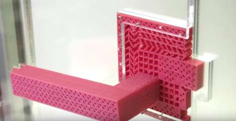 3D-Printed Door Handles - This Metamaterial Door Latch and Handle is Made from a Single Form