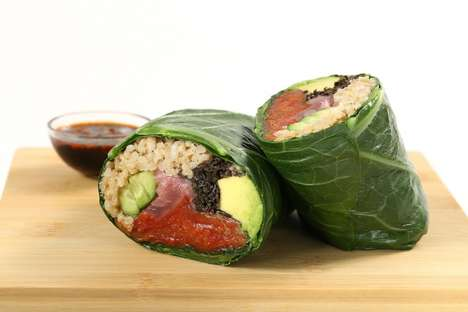 Tomato-Based Sushi - At fresh&co, Roma Tomatoes are Used as an Alternative to Fish in Veggie Sushi