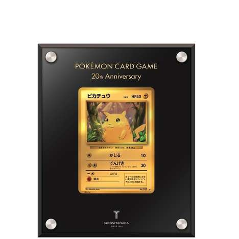 Gilded Trading Cards - Tanaka Jewelry is Releasing a Luxury Anniversary Pokemon Pikachu Card