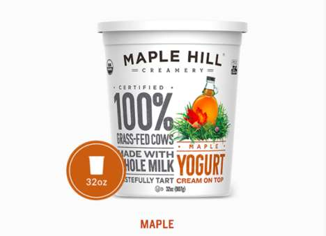 Cream-Topped Yogurts - Maple Hill Creamery's Creamy Yogurt Flavors Boast Cream on Top