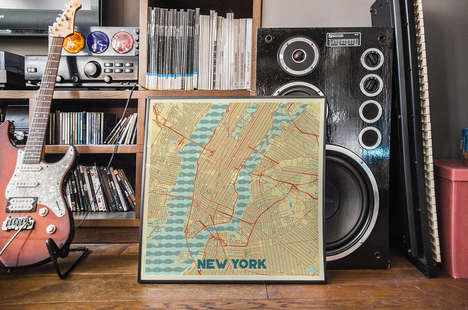 Retro Map Art - Hubert Roguski Creates Simple Yet Stunning City Map Prints
