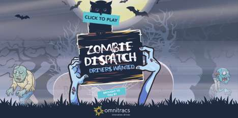 Terrifying Truck Driver PSAs - The Zombie Dispatch Halloween Game Promotes Truck Driver Training