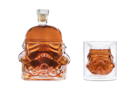 Space Soldier Decanter Sets - This Star Wars Decanter and Shot Glass Features a Stormtrooper Design
