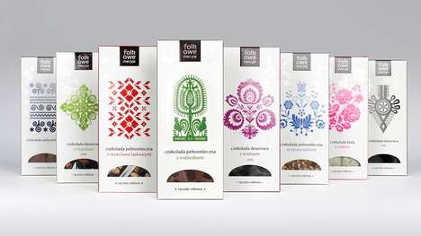 Folk-Inspired Chocolate Branding - These Patterned Chocolates Were Inspired by Polish Folk Culture