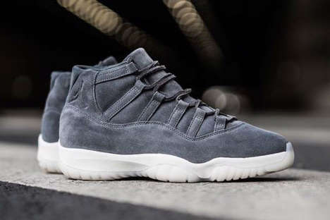 Exclusive Retro Sneaker Reboots - The New Air Jordan 11 Retro Utilizes Premium Suede for Its Upper