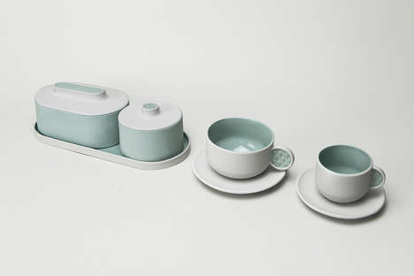 3D-Printed Tea Sets - This Collection Focuses on the Tactile Aspect of Drinking Tea