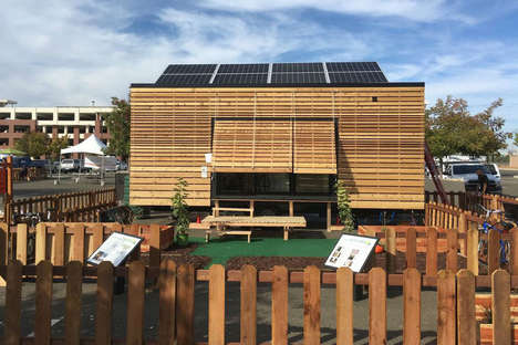 Off-Grid Eco Homes - The 'rEvolve House' is a Tiny Home Powered Entirely by Solar Panels