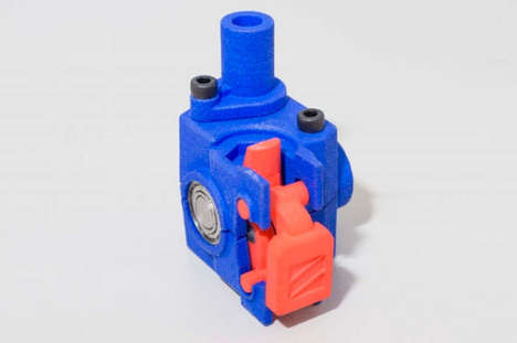Speedy Lightweight Printer Extruders - The 'Zesty Nimble' 3D Printer Extruder Provides Quick Results