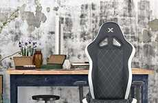 Professional PC Gaming Chairs - The RapidX Ferrino Diamond Video Gaming Chair is Durably Designed