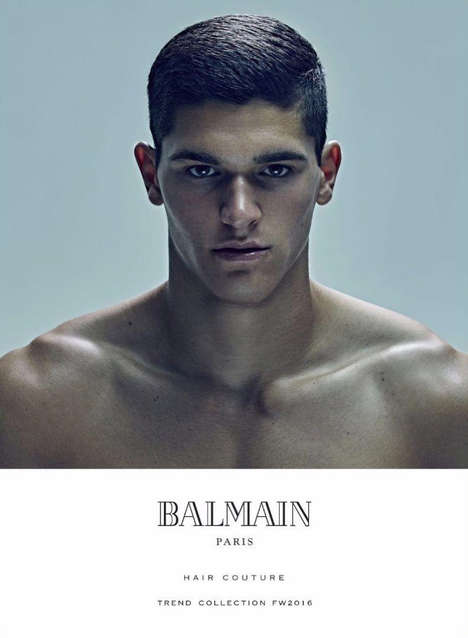 Couture Hair Catalogs - The Fall/Winter Balmain Hair Campaign Highlights Unconventional Men's Styles