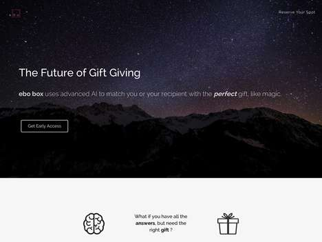AI-Enabled Gift Services - 'ebo box' Uses Machine Learning Algorithms to Send Personal Gifts