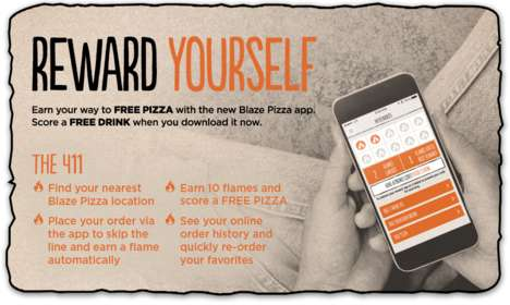 Pizza-Earning Loyalty Apps - The Blaze Pizza App Lets Customers Scan Their Phones to Earn Pizzas