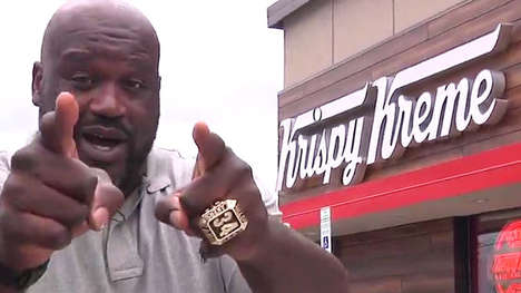 Celebrity-Endorsed Donut Promotions - Krispy Kreme's Shaq-or-Treat Promotion Celebrates Halloween