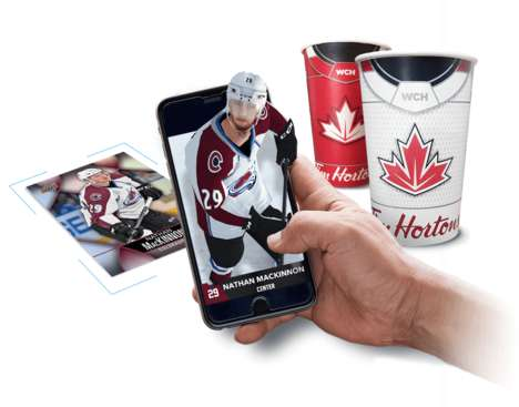 Augmented Reality Hockey Cards - Tim Hortons is Enhancing the Enjoyment of Trading Cards
