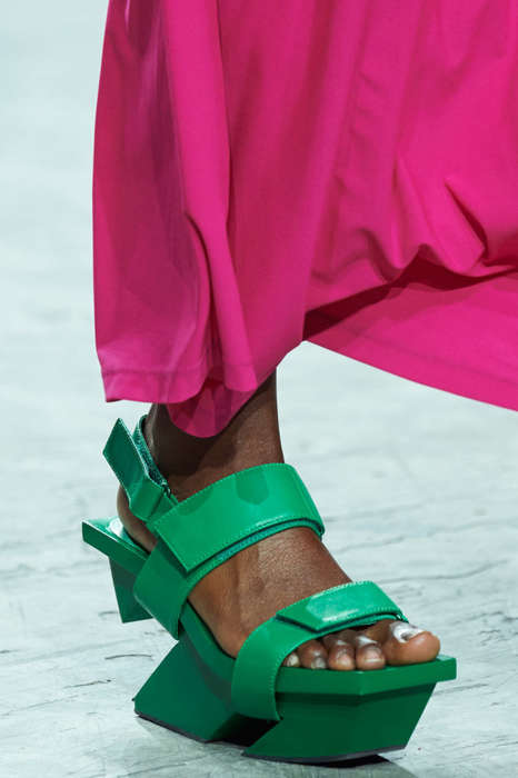 Playful Platform Sandals - The New Issey Miyake Designs Feature Solid Colorways and Unique Shapes