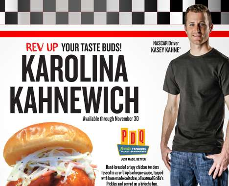 Charitable Driver-Endorsed Sandwiches