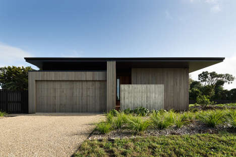 Contemporary Cedar Homes - MRTN Architects' Designed the 'House Under Eaves' in New Zealand