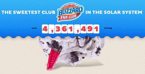 Indulgent Email Promotions - Dairy Queen's Blizzard Fan Club Offers Monthly and Birthday Promos