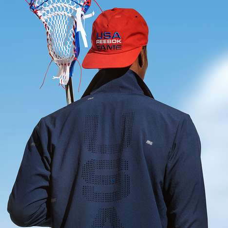 Patriotic Holiday Sportswear - The Reebok Hall of Fame Collection Features American Flag Graphics