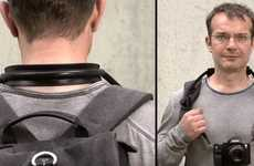 Ergonomic Traveling Camera Straps - SnapSnap Uses Magnets to Relieve the Weight of DSLR Cameras
