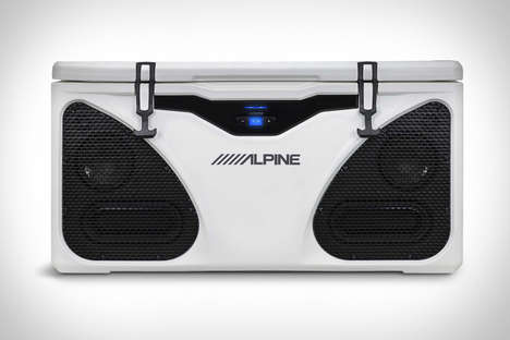 Beat-Blasting Coolers - The Alpine Ice In-Cooler Speaker System Combines Products in a Large Cooler