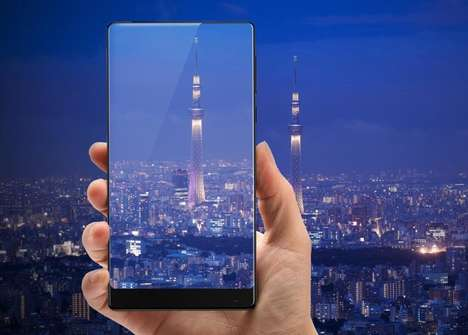 Edgeless Smartphone Devices - The Xiaomi Mi Mix is a Concept Smartphone with a Ceramic Body