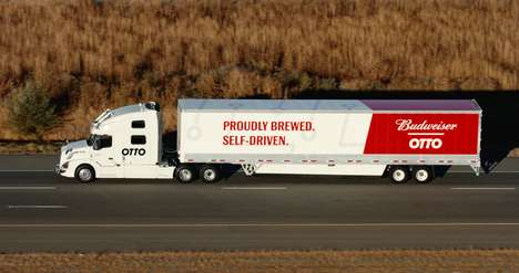 Autonomous Beer Delivery Trucks - Otto Big Rigs Have Successfully Transported Shipments of Budweiser