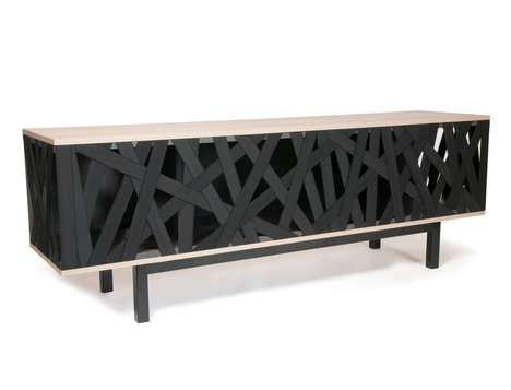 Chaotic Storage Credenzas - The 'Chaos' Credenza Cabinet Makes Use of Hard and Soft Materials