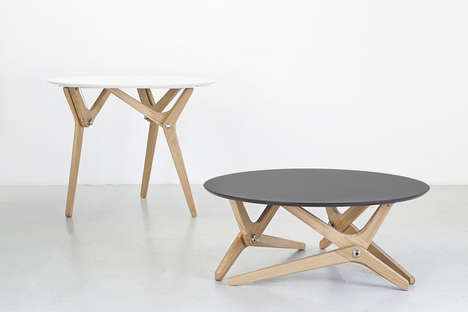 Complex Transforming Tables - This Modern Table Design from Boulon Blanc Adapts to Varying Needs