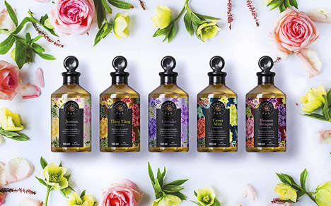 Floral Spa Product Packaging - The Legend of Spa Products Extend the Experience to the Home