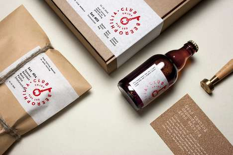 Beer Enthusiast Club Branding - The Beerophilia Club Paper Package Branding is Rustic