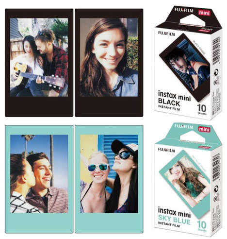 Chromatic Instant Film Borders - The New Instant Film for the Instax Mini Comes in Different Colors
