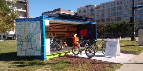 Shipping Container E-Bike Shops - 'Quikbyke' is an Electronic Bike Rental Shop Run Out of a Box