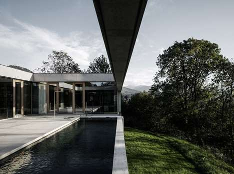 Valley-Side Pool Vistas - House of Yards' Pool Offers a View of the Rhine Valley